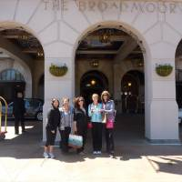 Photo - The Broadmoor hotel will host a Women's Weekend of Wellness April 14 to 16. Here, a group of women pose for a photo during a similar event last year at the hotel. Photo provided.