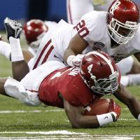 Photo -  OU linebacker Frank Shannon (20) is still on the Sooners' roster. Photo by Chris Landsberger, The Oklahoman