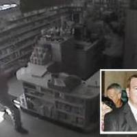 Photo - An image from surveillance video during the robbery is seen in this image from NewsOK.com. video. Inset: Jerome Ersland, whose murder trial begins June 21, 2010.