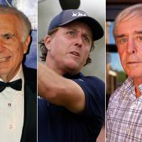 Photo - This combo made from file photos shows, from left, financier Carl Icahn, pro golfer Phil Mickelson, and developer and high-profile sports better Billy Walters. A federal official briefed on the investigation told The Associated Press that the FBI and Securities and Exchange Commission are looking at stock trades that Mickelson and Walters made involving Clorox when Icahn was attempting to take over the company.  There have been no charges filed against the three men and the investigation could lead to nothing. (AP Photo/Henny Ray Abrams/Wilfredo Lee/Las Vegas Review-Journal, Jessica Ebelhar)