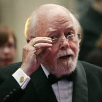 Photo - FILE - In this Wednesday, April 9, 2008 file photo, British actor and director Richard Attenborough arrives at the Galaxy British Book Awards in London. Acclaimed actor and Oscar-winning director Richard Attenborough, whose film career on both sides of the camera spanned 60 years, died on Sunday, Aug. 24, 2014. He was 90. (AP Photo/Lefteris Pitarakis, File)