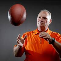 Photo - OSU defensive coordinator Bill Young was previously an assistant at Kansas. PHOTO BY BRYAN TERRY, THE OKLAHOMAN