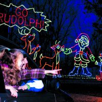 Photo - Santa Claus Land of Lights is a big family attraction. PHOTO PROVIDED BY LAKE RUDOLPH CAMPGROUND AND RV RESORT.