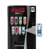 Photo -   This undated image provided by Coca-Cola shows a new soda vending machine the company announced Monday, Oct. 8, 2012, that they plan to roll out. The new vending machines are a response to the intensifying criticism over sugary sodas and will let customers see the calorie counts on selection buttons, and will urge consumers to choose less sugary alternatives with messages such as
