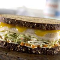Photo -  This fish sandwich is made with products from the Made in Oklahoma Coalition        -  PROVIDED