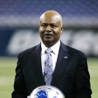 Photo - New Detroit Lions head coach Jim Caldwell stands on Ford Field in Detroit, Wednesday, Jan. 15, 2014. Caldwell previously was the Baltimore Ravens quarterbacks coach and offensive coordinator. (AP Photo/Carlos Osorio)