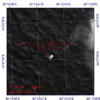 Photo - This image provided by China's State Administration of Science, Technology and Industry for National Defense shows a floating object seen at sea next to the descriptor which was added by the source. The image was captured around noon, on March 18, 2014 (Tuesday) by a Chinese satellite in S44'57 E90'13 in south Indian Ocean. It shows what is suspected to be a floating object 22 meters long and 13 meters wide. It is about 120 km south (slightly to the west) of the suspected objects released by Australia. (AP Photo/ China State Administration of Science, Technology and Industry for National Defense)