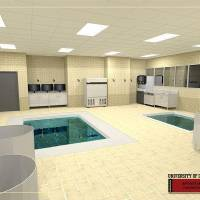 Photo - Artist rendering of the sports medicine hydro therapy pools that are part of Phase IV of the renovation of Gaylord Family - Oklahoma Memorial Stadium. PHOTO PROVIDED