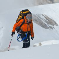 Photo - Valari Wedel, of Edmond, is shown on a 2010 climb in the Himalayas. Photo provided.