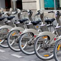 Photo - Paris's bike-sharing program has more than 20,000 bikes stationed around the city. (photo by Dominic Bonuccelli)