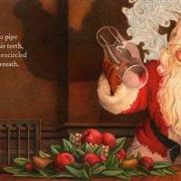 Photo - This illustration released by Applesauce Press shows an image of Santa Claus smoking a pipe from the book,