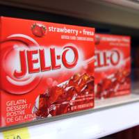 Photo - This Tuesday, Aug. 19, 2014 photo shows boxes of Jell-O on a shelf at a store in Vauxhall, N.J. Despite its enduring place in pop culture, sales of Jell-O have tumbled 19 percent from five years ago, with alternatives such as Greek yogurt surging in poularity. (AP Photo/Dan Goodman)