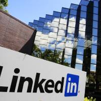 Photo - LinkedIn Corp., the professional networking website, displays its logo outside of headquarters in Mountain View, Calif. AP Photo
