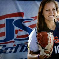 Photo - U.S. / UNITED STATES SOFTBALL TEAM: USA Softball team member Keilani Ricketts poses for a photo during media day at ASA Hall of Fame Stadium in Oklahoma City, Okla. Monday, June 25, 2012.  Photo by Chris Landsberger, The Oklahoman