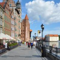 Photo -  Poland's Gdansk is often a port of call on northern European cruises. These brick buildings line the city's atmospheric riverfront embankment. Photo provided by Cameron Hewitt