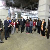 Photo -  Legislators on Tuesday tour the basement of the American Indian Cultural Center in Oklahoma City. Photo by David McDaniel, The Oklahoman   David McDaniel -