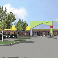 Photo - An artist's drawing of an addition to The Outlet Shoppes at Oklahoma City, expected to open in November. DRAWING PROVIDED BY HORIZON GROUP PROPERTIES