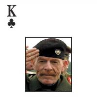 Photo -   FILE -This photo undated file photo provided by the U.S. Army shows Izzat Ibrahim al-Douri pictured on the deck of cards put out by the U.S. military to help capture the most wanted officials of Saddam Hussein's regime. A video posted online Saturday, April 7, 2012 purports to show Izzat Ibrahim al-Douri, the highest ranking member of Saddam Hussein's ousted regime still at large, criticizing Iraq's Shiite-led government (AP Photo/U.S. Army, File)