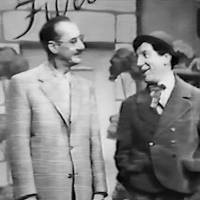Photo -       Groucho, left, and Chico Marx in the 1956 special