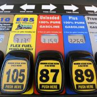 Photo - Stillwater-based OnCue Express sells a variety of gasoline blends, including the recently approved 15-percent ethanol blend known as E15. That blend, which is not included in this photo, is sold at only at a separate terminal labeled for flex-fuel vehicles only. Photo By Steve Gooch, The Oklahoman  Steve Gooch