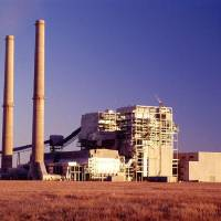 Photo - Oklahoma Gas and Electric Co. operates this coal-fired power plant at Red Rock.   - provided