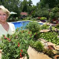 Photo - Master Gardener Anne Griswold in her back yard at her home in Edmond.   David McDaniel - The Oklahoman