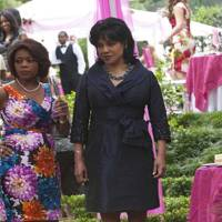"""Photo -  Alfre Woodard and Phylicia Rashad are shown in a scene from """"Steel Magnolias."""" - Lifetime Photo"""
