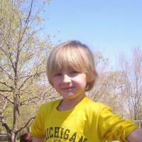 Photo - Cooper Barton. Oklahoma City Public Schools officials will review the district dress code policy after a kindergartner was asked to turn his University of Michigan T-shirt inside out. Kindergartner Cooper Barton, 5, turned his shirt inside out behind a tree on the playground after a teacher at Wilson Elementary School noticed he was breaking the district dress code policy.    ORG XMIT: 1208241845122379