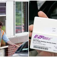 Photo - This combination of Associated Press file photos shows, left, toll collector Anthony Morris working a booth at the Rip Van Winkle Bridge in Catskill, N.Y., in 2012, and, right, Manisha Padhye holding up an E-Z Pass in 2009, in Broadview Heights, Ohio. Many middle-class workers have lost jobs because powerful software and computerized machines are doing tasks that only humans could do before.   - AP