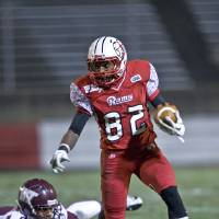 Photo - Winston-Salem State wide receiver Jameze Massey(82) heads up field during an NCAA college football game against West Texas A&M on Saturday, December 8, 2012 at Bowman-Gray Stadium in Winston-Salem, N.C. (AP Photo/Winston-Salem Journal, Andrew Dye)