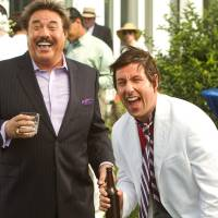 Photo - FILE - This undated publicity film image released by Columbia Pictures - Sony shows Tony Orlando, left, and, Adam Sandler, in a scene from