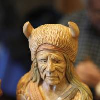 Photo - Tim Hataway's finished woodcarving that was shown at the Edmond Senior Center Woodcarving Show. PHOTO BY STEVE GOOCH, THE OKILAHOMAN.  STEVE GOOCH - THE OKLAHOMAN