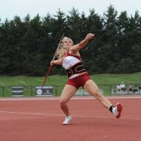 Photo - Brittany Borman throws the javelin. PHOTO PROVIDED