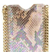 Photo - For those who follow the Chinese zodiac, the year of the snake begins Feb. 10. Some ways to incorporate the symbol of the year into your wardrobe, with no harm done to any living creature include this Stella McCartney snake-print iphone case, $273.38 from Farfetch.com. (Farfetch.com via Los Angeles Times/MCT)
