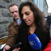 Photo - Jenny Lauren, niece of US fashion designer Ralph Lauren, leaves Ennis District Court, Ennis, Ireland, Wednesday Jan. 8, 2014. Lauren appeared in an Irish court on charges of being drunk and disorderly on a New York-bound plane. Jewelry designer Jenny Lauren was arrested after a Delta flight from Barcelona made an unscheduled stop at Shannon Airport on Monday. (AP Photo/PA,Niall Carson) UNITED KINGDOM OUT  NO SALES  NO ARCHIVE