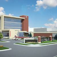 Photo -  The new $53 million emergency and intensive care pavilion set to be built immediately south and west of Kaiser's American Bistro at NW 10 and Walker.  Drawing provided by Rees Associates    Rees Associates