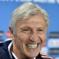 Photo - Colombia's head coach Jose Pekerman smiles to the media during a press conference on the day before the group C World Cup soccer match between Colombia and Greece at the Mineirao Stadium in Belo Horizonte, Brazil, Friday, June 13, 2014.  (AP Photo/Martin Meissner)