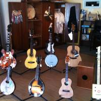 Photo - Guitars for sale are shown at Sonder Music in Norman, one of the retailers participating in Small Business Saturday. PHOTO PROVIDED