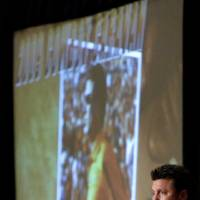 Photo - OKLAHOMA STATE UNIVERSITY / OSU / COLLEGE FOOTBALL: Oklahoma State football coach Mike Gundy speaks to a crowd during a Cowboy Caravan stop at the Cox Convention Center in Oklahoma City, Friday, July 31, 2009. Photo by Bryan Terry, The Oklahoman ORG XMIT: KOD