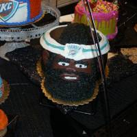 Photo - A cake decorator at the Homeland store, at 9225 N May, created this cake to look like Oklahoma City Thunder player James Harden.  PHOTO PROVIDED BY HOMELAND