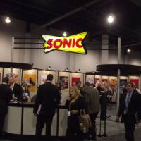 Photo - Oklahoma City-based Sonic's booth is shown at the International Council of Shopping Centers conference this week in Las Vegas.        PROVIDED BY THE GREATER OKLAHOMA CITY CHAMBER      ORG XMIT: 1005252220042893