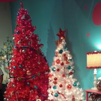 Photo - Be Tree-ative: Trees like this Tupperware Tree, featured this year at the Orlando Museum of Art?s Festival of Trees, stretch the imagination, and challenge visitors to get out of their holiday décor ruts . Photos by Marni Jameson
