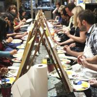 Photo - Customers paint at Pinot's Palette in Houston. The franchise is opening a Bricktown location this spring. PHOTOs PROVIDED BY PINOT'S PALETTE