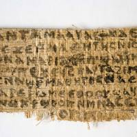 Photo -   This Sept. 5, 2012 photo released by Harvard University shows a fourth century fragment of papyrus that divinity professor Karen L. King says is the only existing ancient text that quotes Jesus explicitly referring to having a wife. King, an expert in the history of Christianity, says the text contains a dialogue in which Jesus refers to