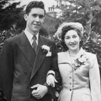 Photo - Brady and Marion Howard, of Oklahoma City, were married July 9, 1952, in London.