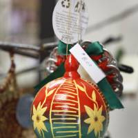 Photo - Christmas decorations for sale at the PAMBE Ghana Global Market in Oklahoma City.  Steve Gooch - The Oklahoman