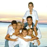 Photo - The Dobrinski family in the summer of 2007 at Canton Lake. Photo provided by Kiley Feely