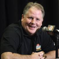 Photo - Oregon head coach Chip Kelly laughs as he answers a reporter's question during media day for the Fiesta Bowl NCAA college football game, Monday, Dec. 31, 2012, in Scottsdale, Ariz. Oregon is scheduled to play Kansas State on Jan. 3, 2013, in Glendale. (AP Photo/Paul Connors)