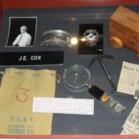 Photo - The TG&Y exhibit at the Chisholm Trail Museum in Kingfisher includes many items from the chain's early days including a payroll stamp and photographs.  MATT PATTERSON - MATT PATTERSON