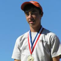 Photo - Jake Ratcliffe, 14, of Ardmore won a gold medal at the Junior World Skeet Championships.  Photo provided